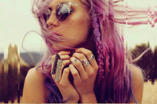 gafas con lentes rosadas