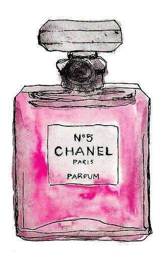 ilustracion perfume chanel