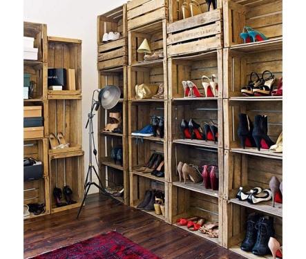 mueble para zapatos con cajas de fruta - Muebles Con Cajas De Fruta